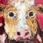 Molly Cow by Deborah Donnelly: Irish art at The Greenlane Gallery