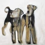 Two Airedales by Heidi Wickham