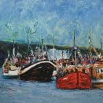 Trawlers, Dingle Pier by Michael Flaherty: Irish art at The Greenlane Gallery