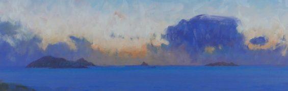 West - Blasket, Tearaght, Inishtookert, oil on panel, 61 x 91 cm