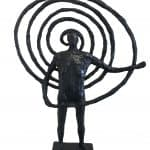 Celtic Spiral Man by Hans Blank: Irish art at The Greenlane Gallery