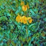 Wild Iris by Michael Flaherty: Irish art at The Greenlane Gallery