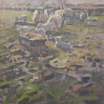 Lambing Márthain by Patsy Farr: Irish art at The Greenlane Gallery