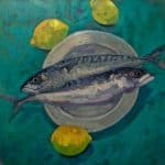Mackerel & Lemons by Patsy Farr: Irish art at The Greenlane Gallery