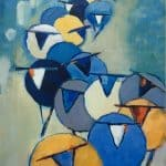 Three Bags Full I by Denise Hussey: Irish art at The Greenlane Gallery