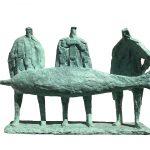 Three Men with Swordfish by Hans Blank: Irish art at The Greenlane Gallery