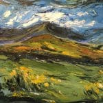 Brandon Mountains Moving with Sly Motion by Michael Flaherty: Irish Art by Greenlane Gallery Dingle