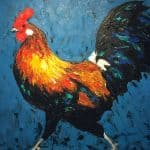 Cockerel I, The Swagger of Domestic Fowl by Michael Flaherty: Irish art at The Greenlane Gallery
