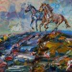Sheridan's Horses by Liam O'Neill: Irish art at The Greenlane Gallery