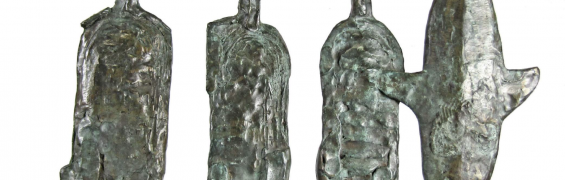 Unloading Fish (Horizontal version), Profile I, Bronze, H45 x W43 x D7 cm, €5,500