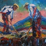 Mountainy Men by Liam O'Neill: Irish art at The Greenlane Gallery