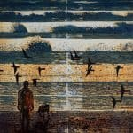 Artist Observing Sunrise by Niall Naessens: Irish art at The Greenlane Gallery
