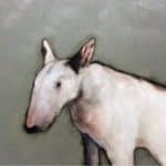 Bull terrier by Heidi Wickham: Irish art at The Greenlane Gallery