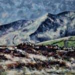 Bog with Brandon Peak by : Irish Art by Greenlane Gallery Dingle