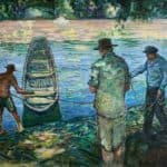 On the River Adour, France by Liam Holden: Irish art at The Greenlane Gallery