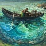 Lobster fishing by Liam Holden: Irish Art by Greenlane Gallery Dingle