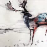 CHESTNUT BROWN FALLOW DEER by Margo Banks: Irish art at The Greenlane Gallery