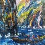 Lobster fishing by Liam O'Neill: Irish art at The Greenlane Gallery