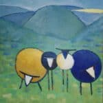 Dingle sheep 2 by Denise Hussey: Irish art at The Greenlane Gallery