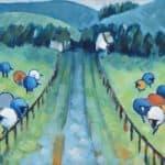 Glenteenassig Sheep by Denise Hussey: Irish art at The Greenlane Gallery