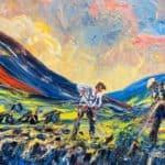 Ag Baint Mhóna Com'a Lochaigh by Liam O'Neill: Irish art at The Greenlane Gallery