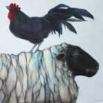 BLACK ROOSTER by Sylvia Parkinson Brown: Irish art at The Greenlane Gallery