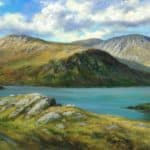 Glamore Lake, Kerry/Cork border. by Liam Jones: Irish art at The Greenlane Gallery