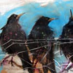 West Kerry Starlings, Dingle. by Margo Banks: Irish Art by Greenlane Gallery Dingle