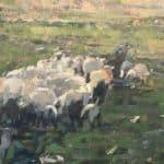 Jacks Sheep by Patsy Farr: Irish Art by Greenlane Gallery Dingle